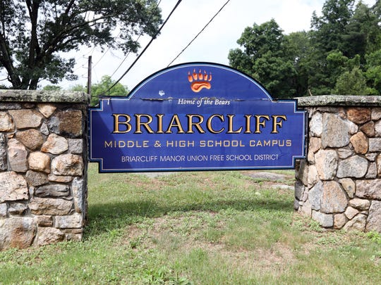 A Briarcliff Manor Union Free School District sign at the entrance of the middle school and high school campus June 28, 2018.