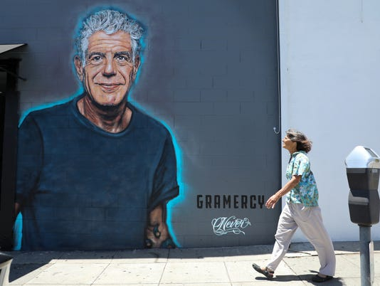 EPA USA CALIFORNIA ANTHONY BOURDAIN MURAL ACE ARTS (GENERAL) USA CA