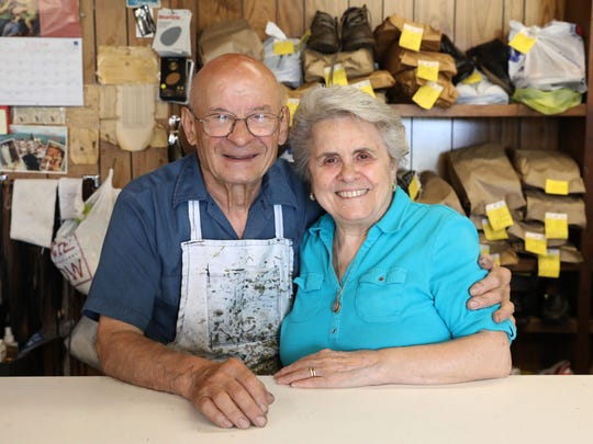 Tony's Repair Shop owners Antonio and Maria Mastracchio,