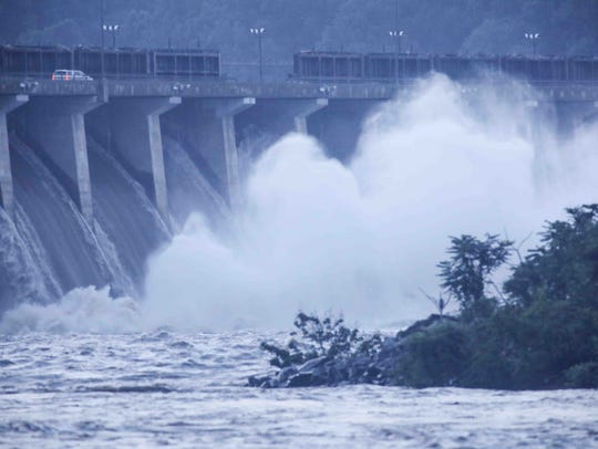 Flood gate were open as hundreds of gallons of Susquehanna