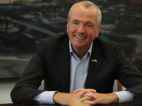 New Jersey Governor Phil Murphy talks with The Record