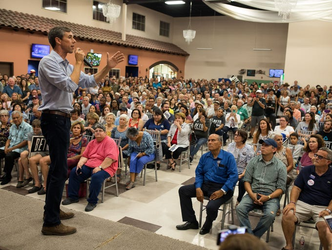 The Texas democratic caudate for Senate Rep. Beto O'Rourke
