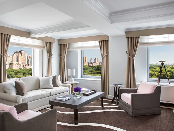 This is the living room of the Premier Park View Suite