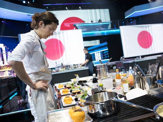 French-Colombian chef Charles Michel competes in the
