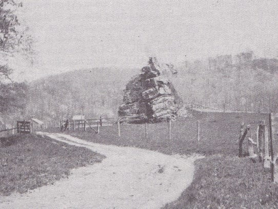 This photograph of Indian Rock hat was published in