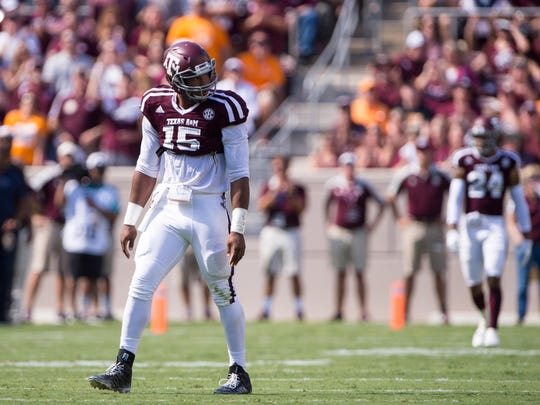 Texas A&M Aggies defensive lineman Myles Garrett (15) could be the top pick in the draft.