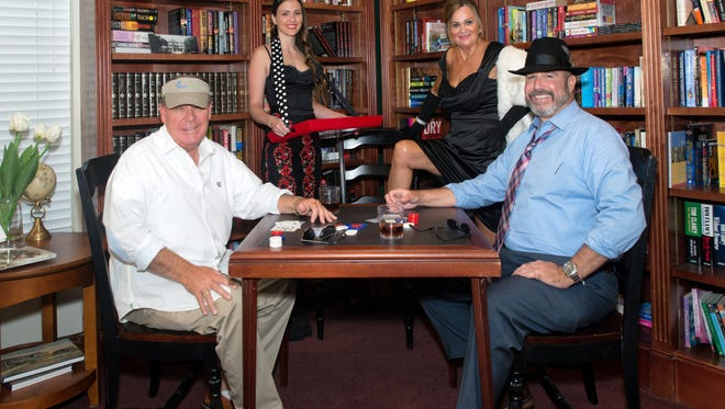 Founder Kevin Sharkey, Wendy Tyo, Dee Gusch and CEO Bill West get ready to play  fund-raising games for Molly's House on Sept. 23. Buy your tickets now.