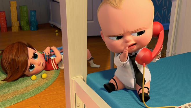 Tim, voiced by Miles Bakshi, and Boss Baby, voiced by Alec Baldwin, are No. 1 again at the box office.