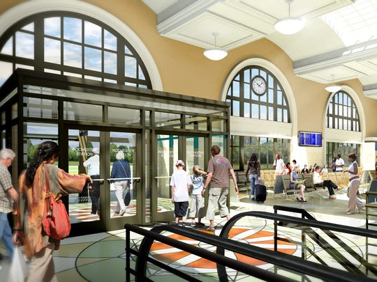 A look inside the proposed new Amtrak station on Central Avenue in Rochester, expected to open in fall 2017.