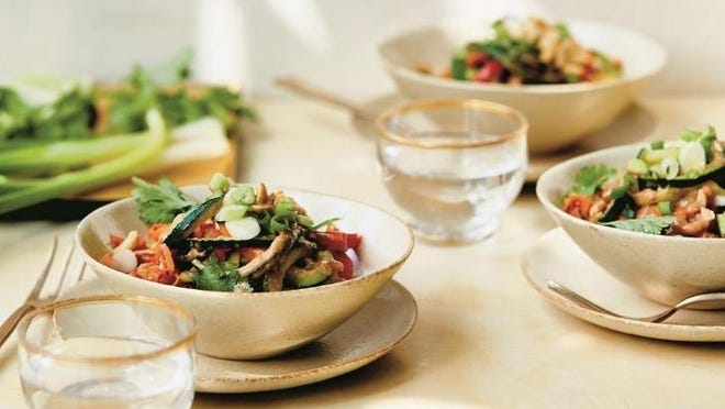 """Carrot-Zucchini Noodles with Almond Butter Sauce are from a new cookbook called """"Just the Good Stuff."""""""