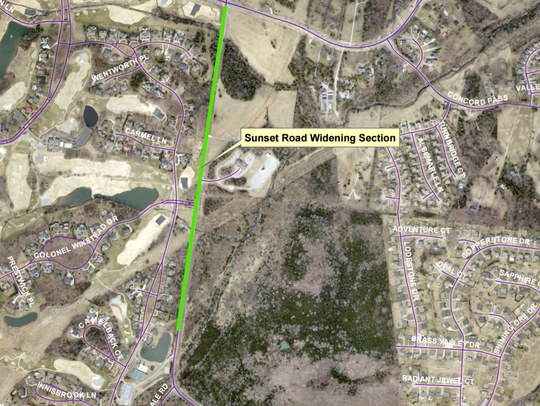 The widening project planned for Sunset Road would
