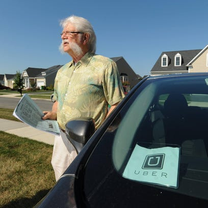 Uber driver Harris Marx of Lewes is shown on Wednesday