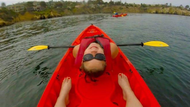 Kayaking in LaJolla, California