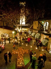 The Festival of Lights in Tlaquepaque's courtyard.