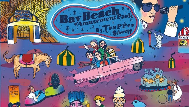 """""""Bay Beach Amusement Park"""" by Trapper Schoepp will be released June 2. The six-song concept album coincides with the Green Bay park's 125th anniversary this year. Album artwork was done by Milwaukee artist Gabriela Riveros."""