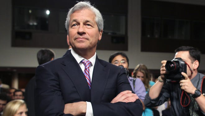 JPMorgan Chase CEO Jamie Dimon arrives to testify before a Senate Banking Committee hearing on Capitol Hill in Washington, D.C., on June 13, 2012.