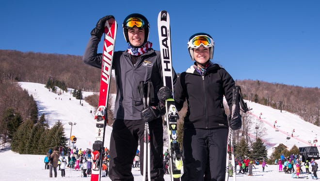 Webster Thomas brother and sister Joseph and Gigi Vasile are Section V champion downhill skiers.