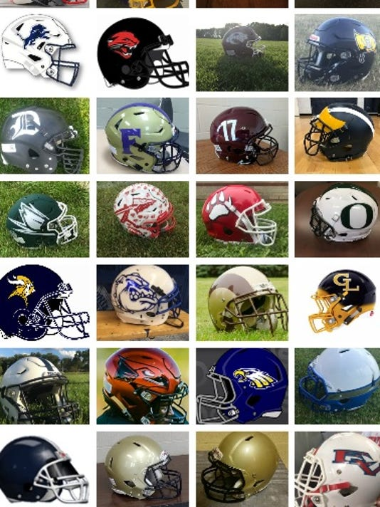 LANSING FOOTBALL HELMETS