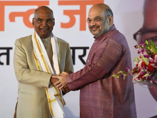 India's president-elect Ram Nath Kovind