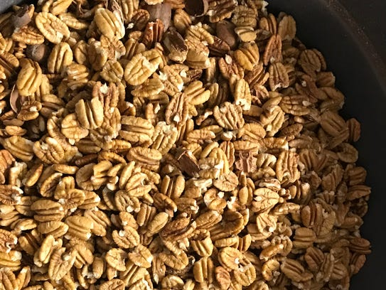 Pecans at Oliver Pecan Co. waiting to be cleaned and