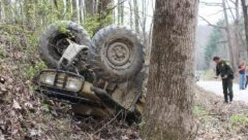An ATV crash Tuesday afternoon killed a 14-year-old boy who was not wearing a helmet.