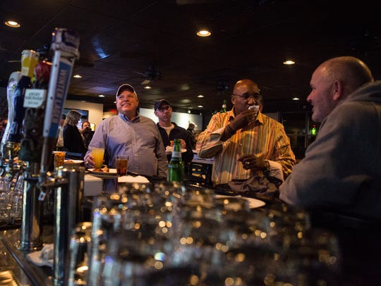 Customers at The Rockford Tavern near Wilmington's Trolley Square earlier this week.