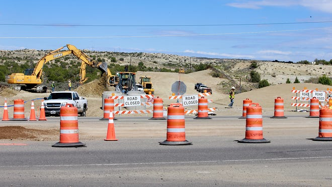 Construction continues on the southern phase of the East Aztec Arterial Route off U.S. Highway 550 just south of Aztec.