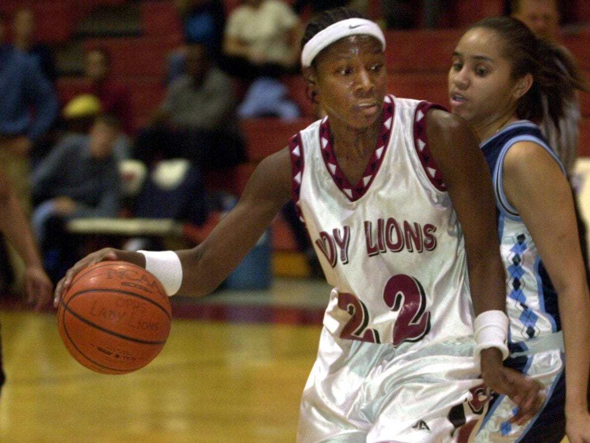 As a Ouachita Lady Lion, Chrissy Givens (22) was the first player in the history of Class 5A to be named first team All-State four years in-a-row.