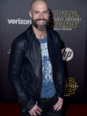 Chris Daughtry arrives at the premiere of 'Star Wars: The Force Awakens' in Los Angeles last month. His new single, 'Torches,' is out now.