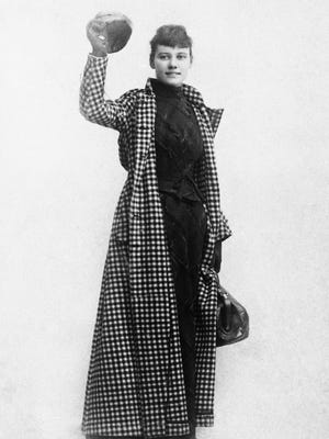 Nellie Bly, a 23-year-old New York newspaperwoman, started her trip around the world on Nov. 14, 1889, completing the trip made famous by Jules Verne in 72 days, 6 hours, 11 minutes.