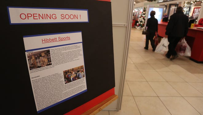 Hibbett Sporting Goods will soon be opening a store at the Wausau Center mall. Their store location is shown, Thursday, December 4, 2014.