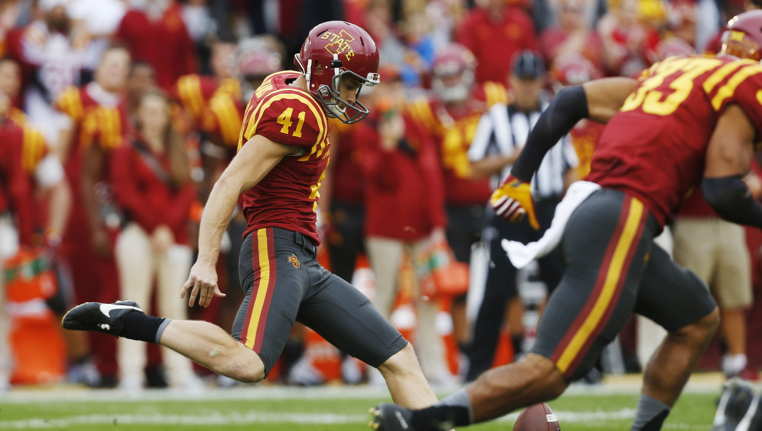 father u0027s death inspires success in iowa state kicker chris francis