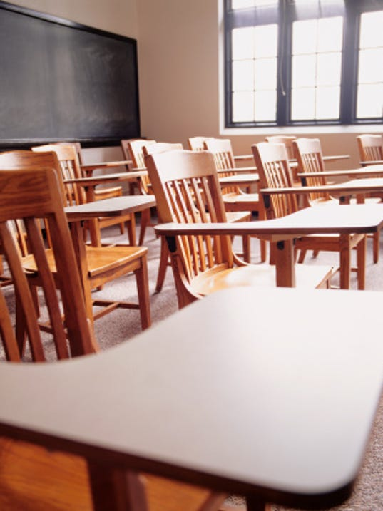 Chairs and tables in classroom