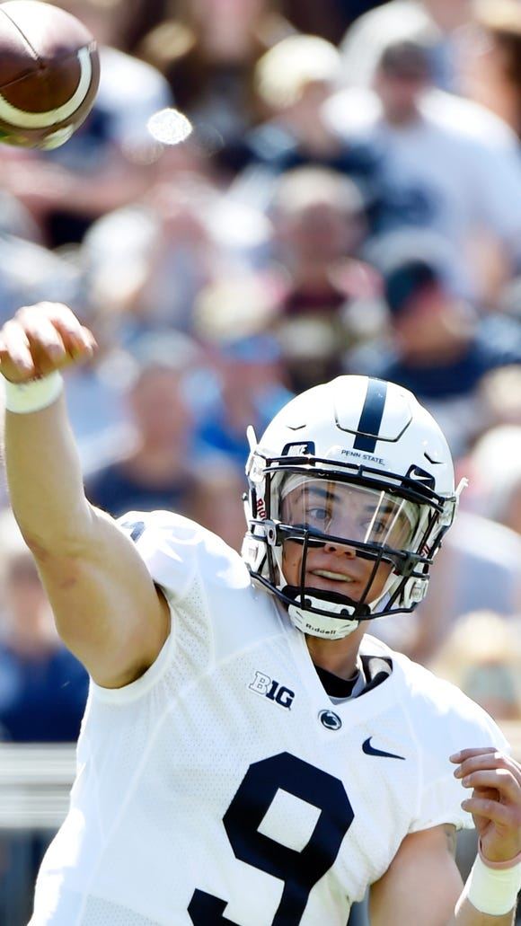 Penn State quarterback Trace McSorley came into the Blue-White Game as the new starting quarterback, and Saturday he appeared to do almost everything right.
