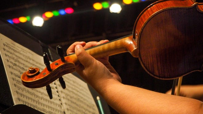 String instruments like this one shown in this October 2017 photo will take a prominent role in the first live concert for Sherman's Symphony Orchestra in November due to COVID-19 concerns.