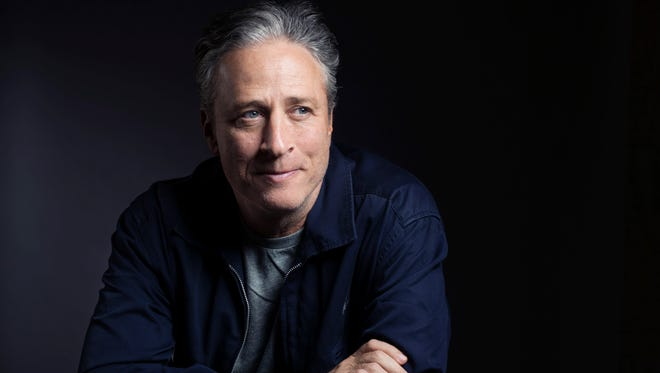 """Jon Stewart poses for a portrait in promotion of his film,""""Rosewater,"""" in New York on Nov. 7, 2014. Stewart will end his show """"The Daily Show with Jon Stewart."""" on Aug. 6."""