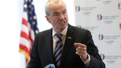 Governor Phil Murphy talks in support of Bergen County