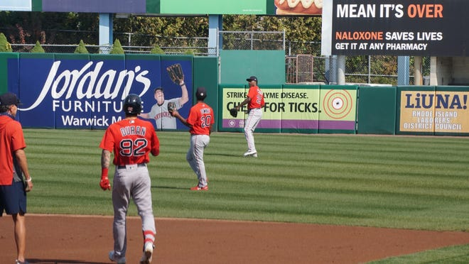 Players took part in the last practice of the Pawtucket Red Sox at McCoy Stadium on Sept. 25. No games were held at McCoy this summer, amid the pandemic. Instead, it was the alternate training site for the Boston Red Sox.