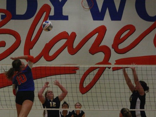 Ladywood's Kayla March contributes an emphatic kill