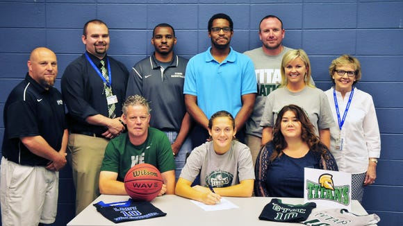 Polk County senior Hayley Kropp has signed to play college basketball for Guilford Tech.