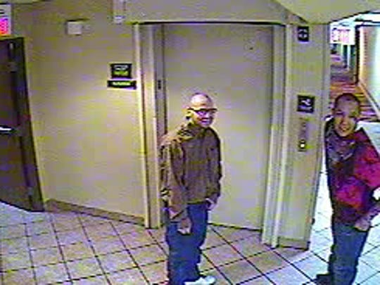 New Mexico State Police released surveillance video photos that show Lionel Clah and Joseph Cruz early on Thursday morning at Gibson Boulevard and University Avenue in Albuquerque. The two convicts escaped from custody on Wednesday evening.