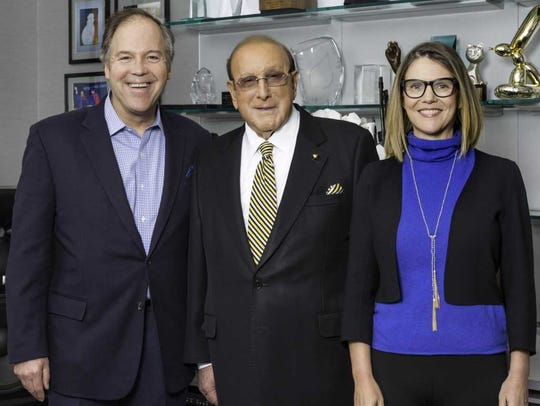 (left to right) Playhouse founder John Far, Clive Davis