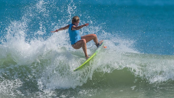 Kayla Durden from Jacksonville takes part in a previous Salty Sweet surf event.