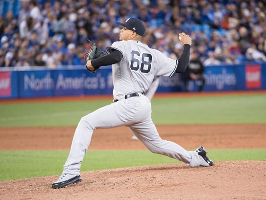 """For me, pounding the strike zone is what I need to do,'' said Betances. ""And I feel like I'm doing pretty good at that right now.''"