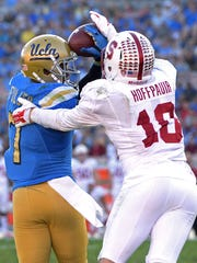 Zach Hoffpauir, shown in action against UCLA, had two tackles against Arizona State in the Pac-12 Championship Game as a sophomore in 2013.