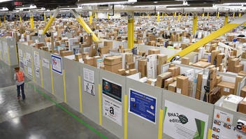 The Amazon Fulfillment Center has more than 1 million square feet at its Wilson County warehouse.  The facility specializes in larger sized items such as kayaks, televisions, guitars, skateboards even pink motor scooters. Perfumes and certain cosmetic items are also carried at the Wilson County Center. More than 1 million items are stored daily.