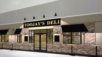 TooJay's before its 2008 opening at Melbourne Square mall. TooJay's closed its Melbourne restaurant on Sunday.