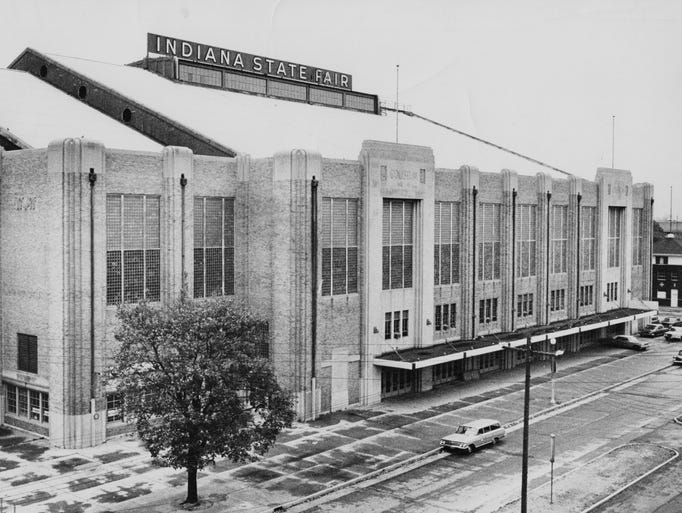 Exterior of the Coliseum in 1963.