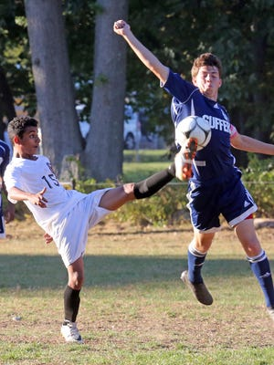 Suffern plays Spring Valley in boys soccer at Spring Valley High School on Oct. 6, 2016.