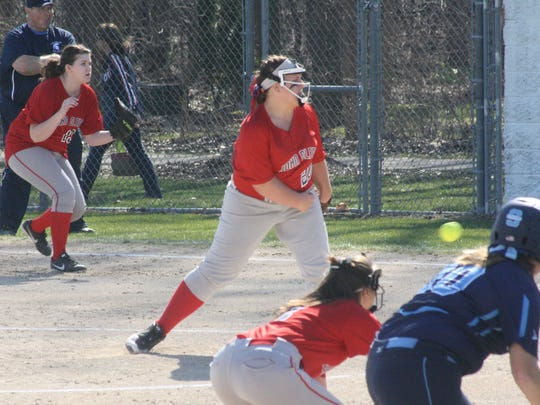 Everybody was on their toes as Mackenzie Huren delivered a pitch Friday afternoon against Stevenson.